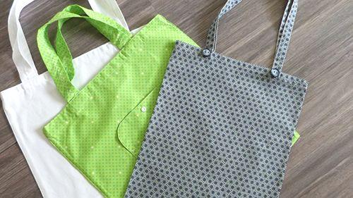 Fini les sacs plastiques à usage unique! Fabriquez votre sac de course personnalisé.