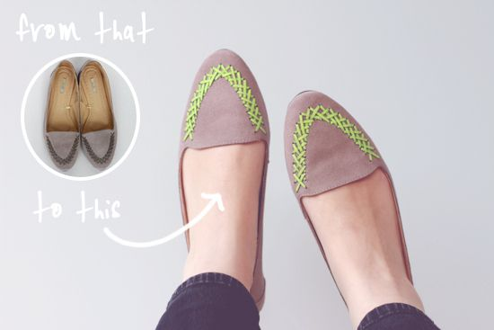 from this to that (shoe makeover on papernstitch)