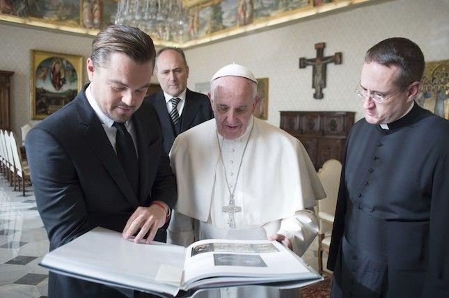 Леонардо ДиКаприо встретился с Папой Римским в Ватикане | Glamour.ru