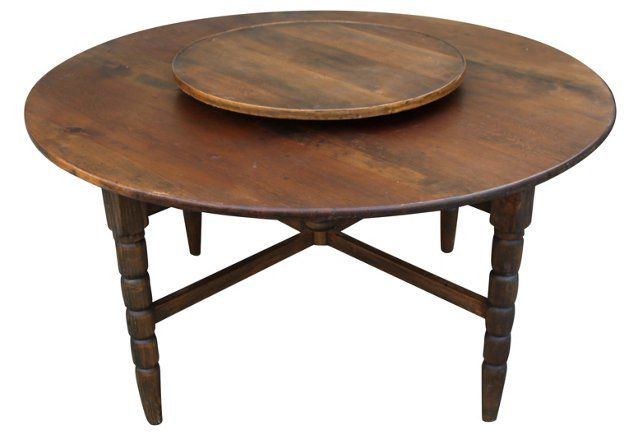French  Dining Table w/ Lazy Susan