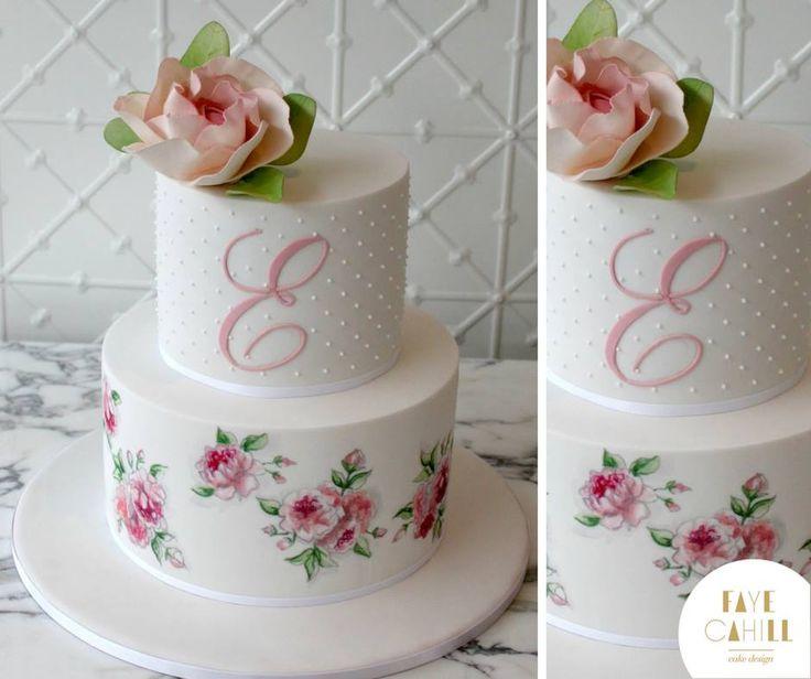 Beautiful Christening Cake