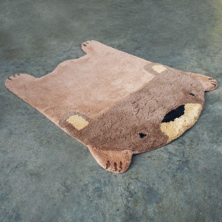 bear rug #home #deco