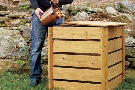 How to build a compost bin.  It's not that hard! | Photo: Wendell T. Webber | thisoldhouse.com