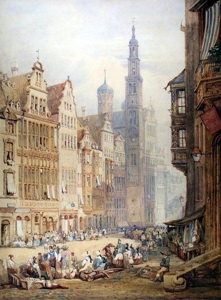 Augsburg Aquarell von Samuel Prout