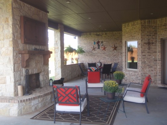 Great Outdoor Living Space In Lubbock, TX! Www.johnjohnsoncustomhomes.com  #outdoorspaces