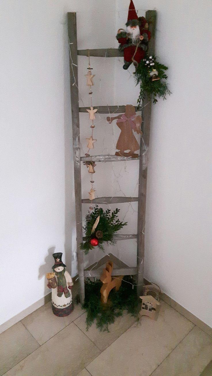 leiter weihnachtsdekoration deko weihnachten und. Black Bedroom Furniture Sets. Home Design Ideas