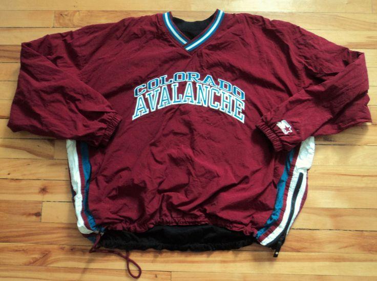 Vintage Colorado Avalanche XL Starter Pullover Windbreaker Jacket NHL VTG by StreetwearAndVintage on Etsy