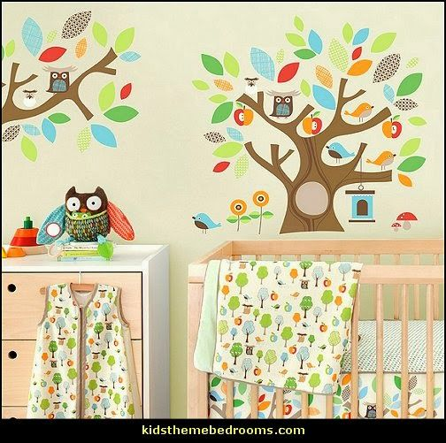 owl bedding owl wall decals owl theme bedroom decorating