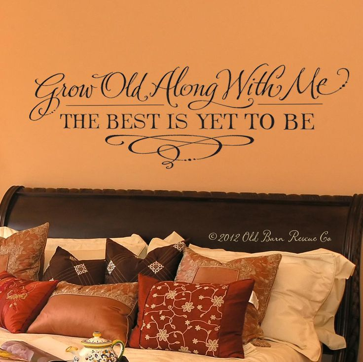 with me the best is yet to be hand drawn vinyl wall master bedroom wallmaster designsart sayingswall