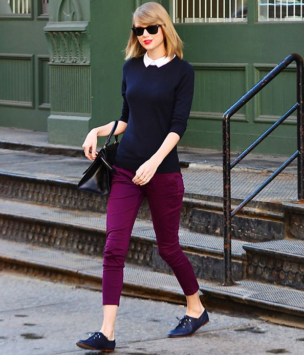 Found It! Taylor Swift's Preppy Collared Sweater  #InStyle