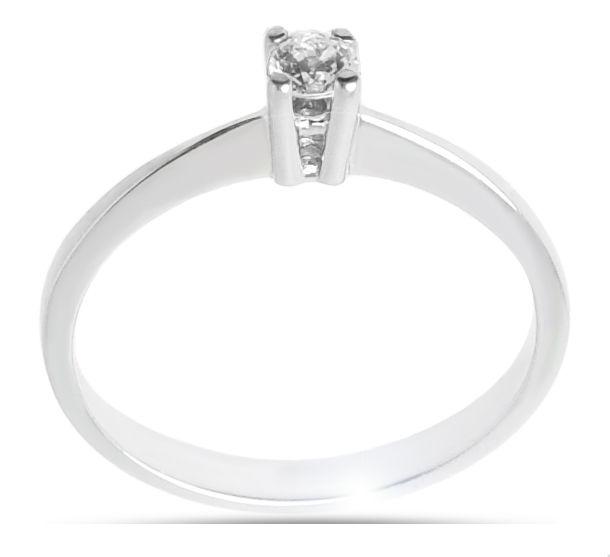 Μονόπετρο δαχτυλίδι Κ18 λευκόχρυσο διαμάντι DL021