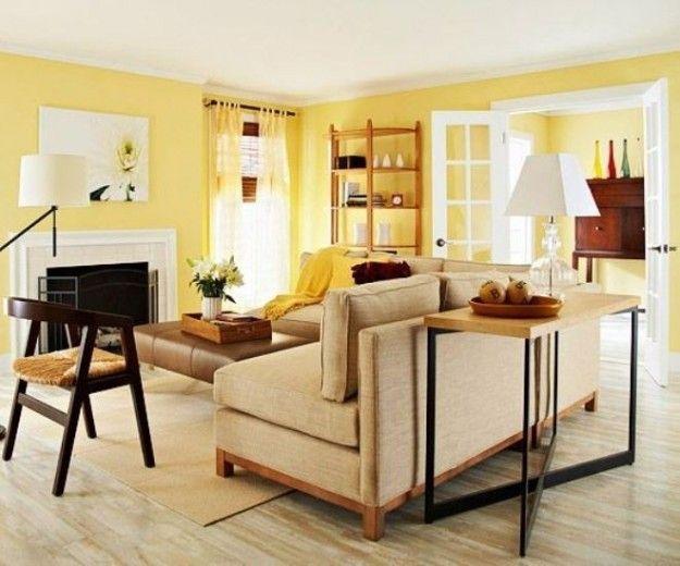 Pareti gialle - Come abbinare il divano alle pareti gialle.