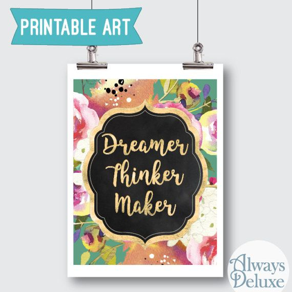 Downloadable Art Dreamer Thinker Maker 8x10 inches by AlwaysDeluxe