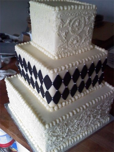 One of many of my daughter's wedding cakes...Emily Zimmerman from lovelylayerscakery.com