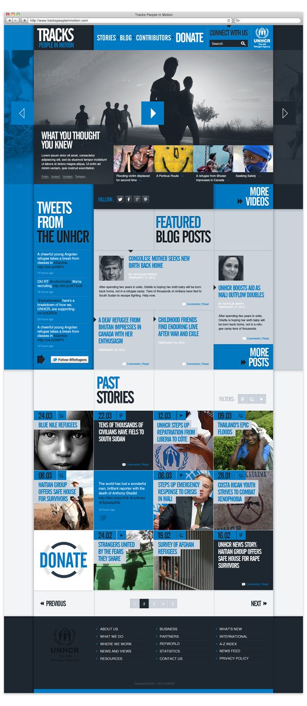 UNHCR - Tracks on Behance