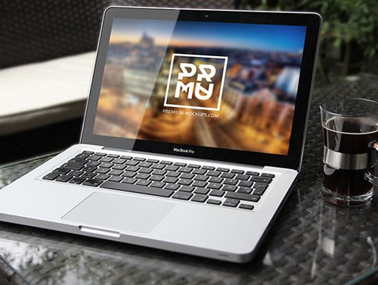 Realistic MacBook PSD Mockup Preview