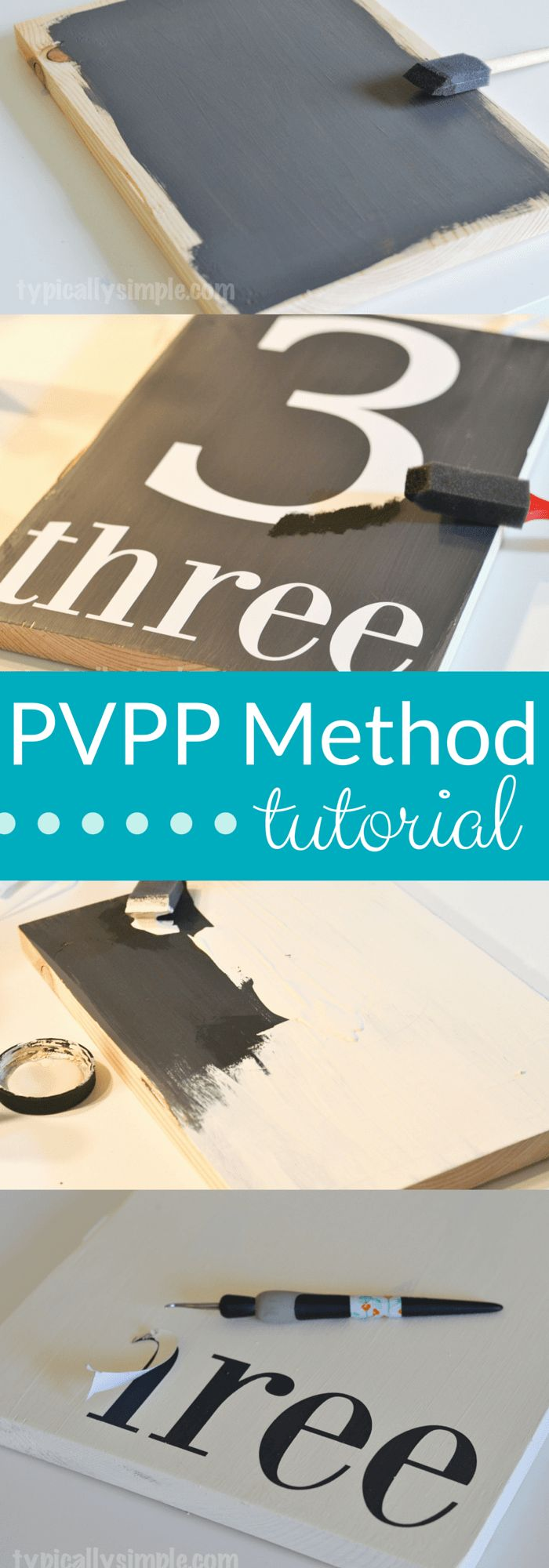 Have you been hearing about the PVPP method? Wondering how it's done? Look no further! Here's a step-by-step tutorial on how to use your Silhouette to create a hand painted sign using the Paint, Vinyl, Paint, Peel method.   TypicallySimple.com