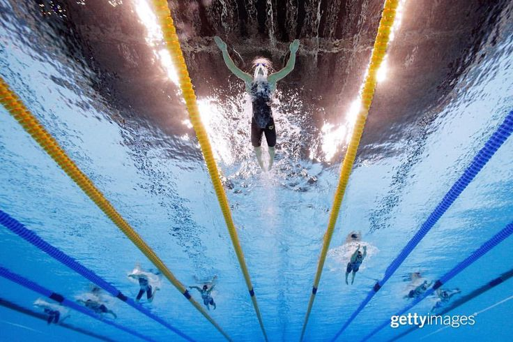 This is what it looks like when a swimming world-record is crushed. _ Katinka Hosszu of Hungary, known as the #IronLady, wins the Women's 400m Individual Medley on Day 1 of the #Rio2016 Olympic Games at the Olympic Aquatics Stadium on August 6, 2016...