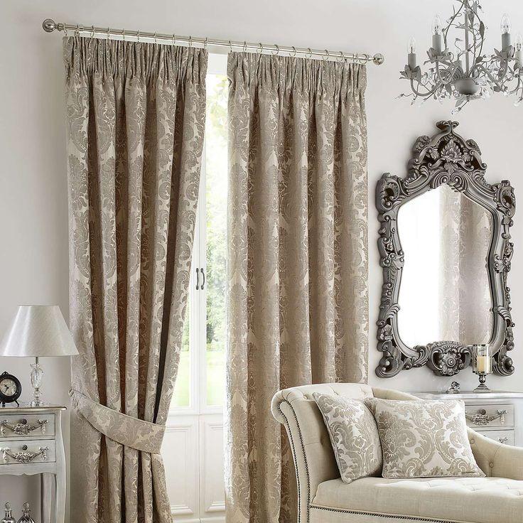 Natural Versailles Pencil Pleat Curtain Collection | Dunelm