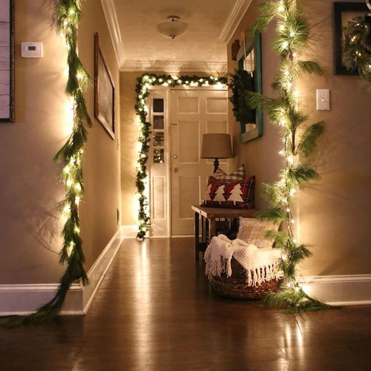 Drape doors and entryways with lights.  - CountryLiving.com