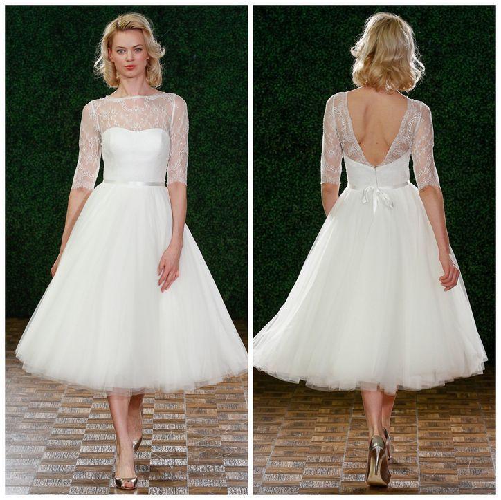 Watters short wedding dress--so sweet!