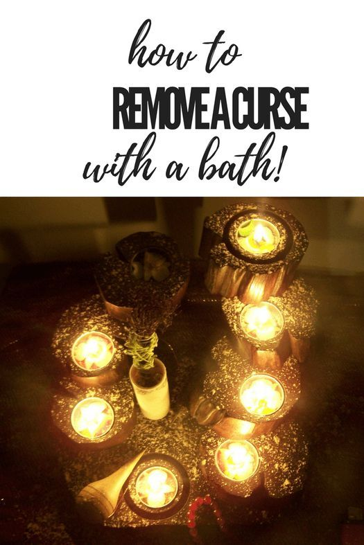 How to remove a curse - by having a bath! Plus beginner witchcraft tips, witchcraft DIYs and more.