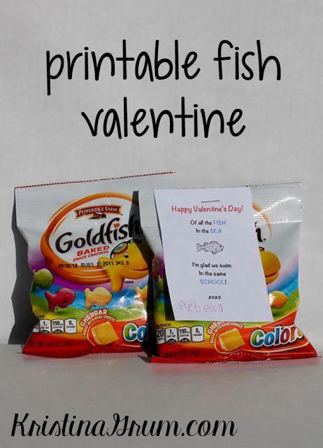 Printable Fish Valentines Fish
