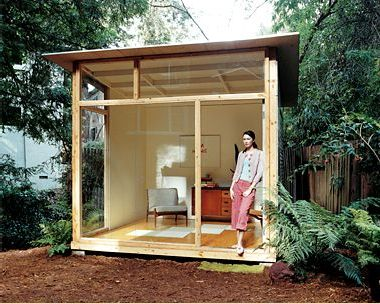 backyard office prefab. if diy is your thing and you are looking for a summer project take look at this midcentury inspired bungalow backyard how great would it be to office prefab