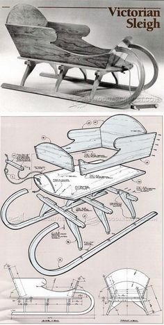 Vivtorian Wooden Sled Plan - Children's Outdoor Plans and Projects | WoodArchivist.com