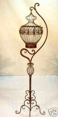 FRENCH large BIRD CAGE WROUGHT IRON  NEW 1m65 high NIB absolutely stunning