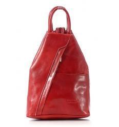 Modny plecak damski czerwony wiśnia MORENA CLASSIC