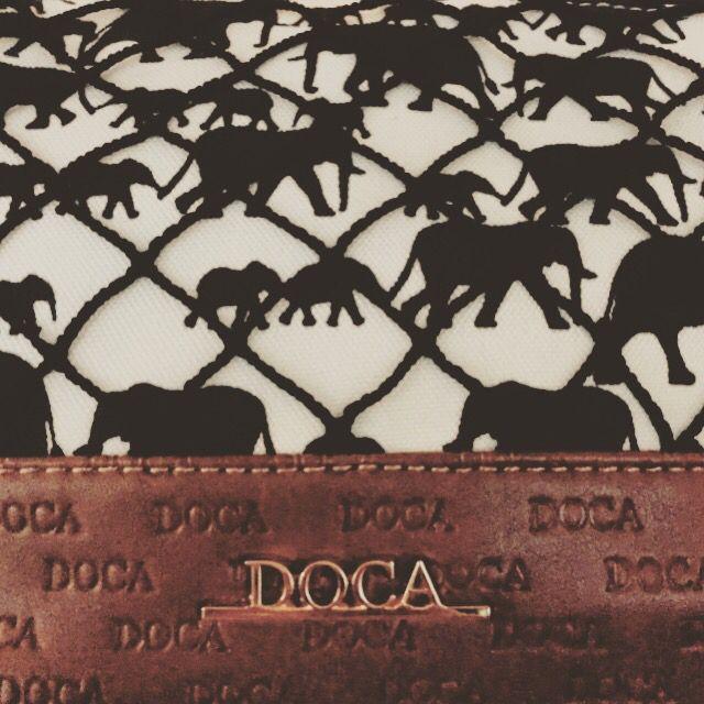 MESSENGER HANDBAG DOCA ELEPHANT PRINT  SUMMER STYLE