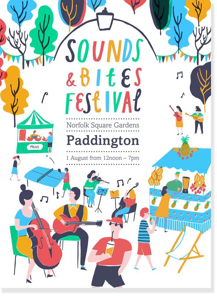 Sounds and Bites Festival - Poster - www.hannahwarren.com