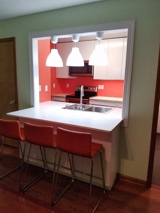 Ikea Ringhult 케비넷 수납장 상판 카운터탑 대리석 설치 부엌 리모델링 완성 이케아 싱크대 Home Decor Decor Breakfast Bar