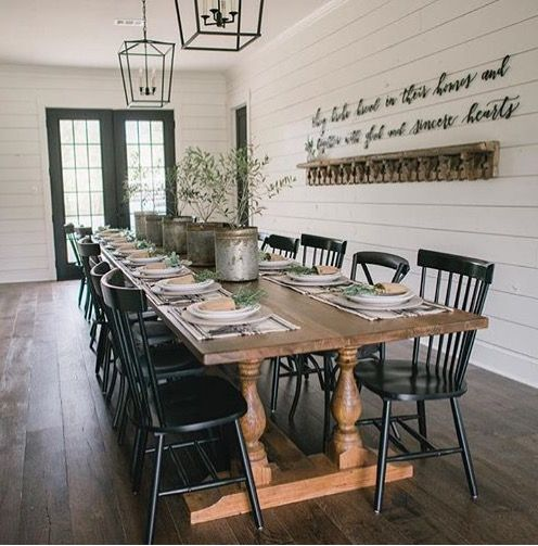 Mismatched chairs and country table