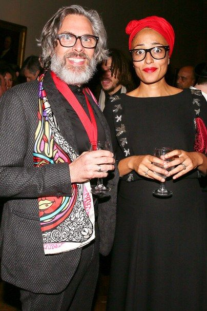 Writers Michael Chabon and Zadie Smith.