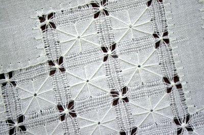 cuban whitework drawn thread work