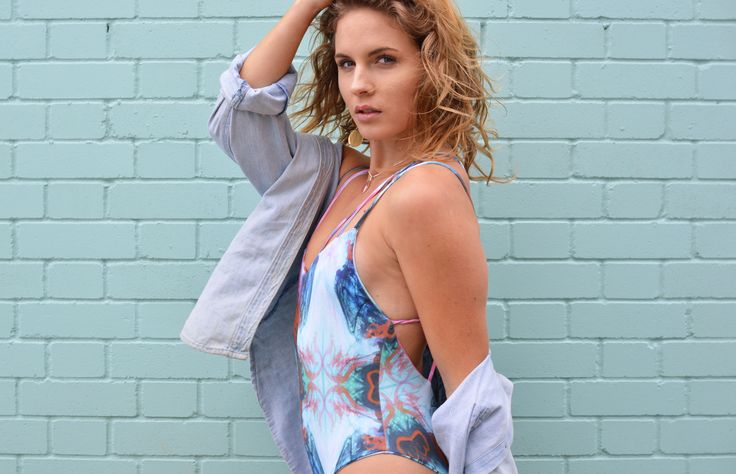 An unique one piece with triple strings and a colorful marble print from Nusa Swimwear. Tap the picture to shop it online at Beachcuties Boutique.
