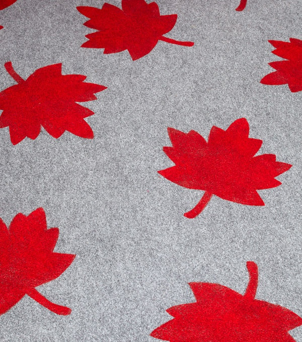 Maple Leaf Outdoor Rug DIY
