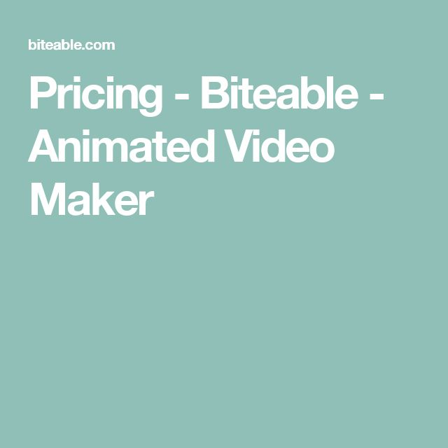 Pricing - Biteable - Animated Video Maker