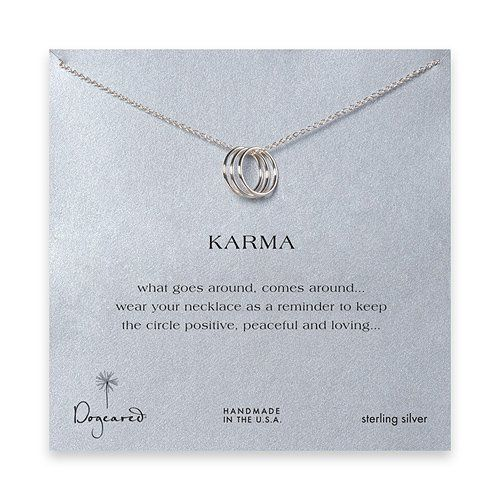 DOGEARED- Triple Ring Karma Necklace in Sterling Silver: Jewelry: Amazon.com $61.41