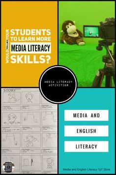 Media Literacy Activities - help your students to gain media literacy skills. You will find everything you need to teach visual and media literacy for both primary and secondary schools.  #medialiteracyactivities #medaeducation  #highschool #primaryschool #visualliteracy #mediastudies https://www.teacherspayteachers.com/Store/Media-And-English-Literacy