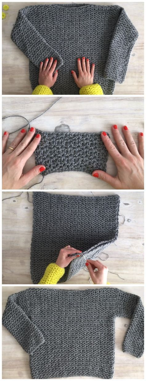 Camisola Fácil de Crochet #sweatersiesta Neste vídeo, mostro-lhe como tricotar um ...