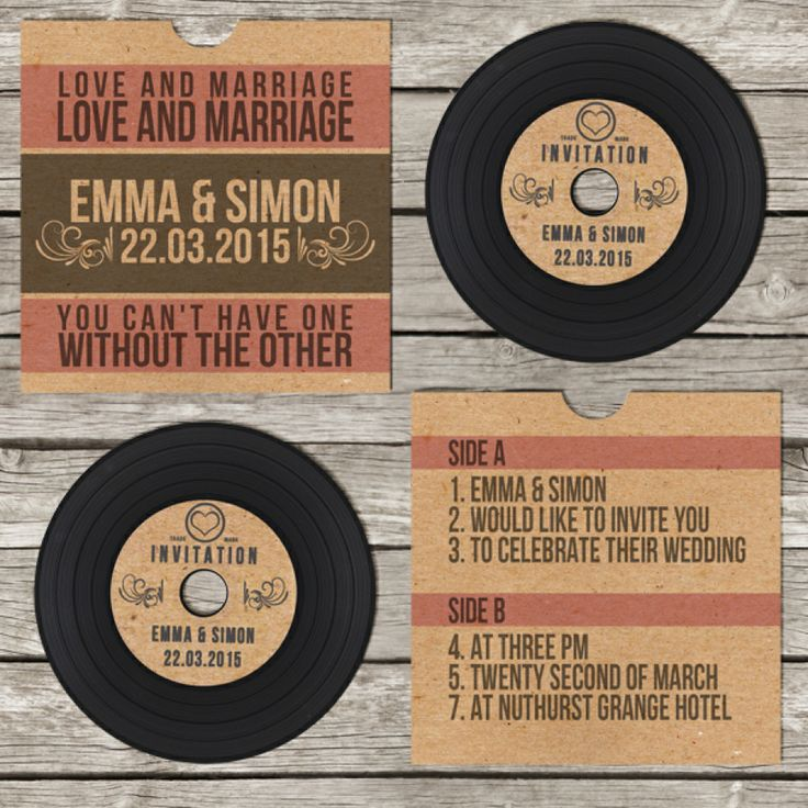 Awesome vinyl invitation