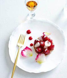 Raspberry and lychee tarts recipe, Lorraine Godsmark, Lorraine's Patisserie, Sydney, Gourmet Institute :: Gourmet Traveller