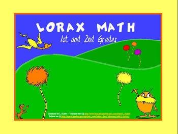 The Lorax Math for 1st and 2nd grades (A Dr. Seuss Favorite!) #homeschool #math #teach