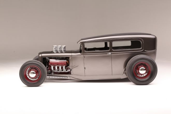 Check out this 1931 Model A Ford chopped and channeled sedan that is powered by an old-time Hemi engine.