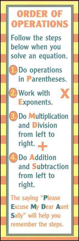 algebra order of operations pdf
