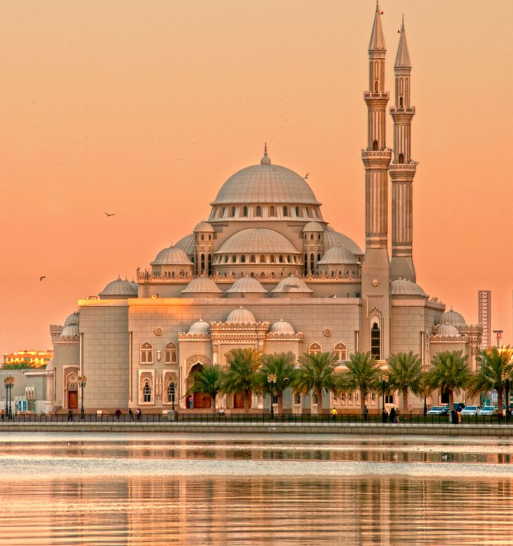 Mosque Sharjah city, UAE. Looks like a fairytale mosque.