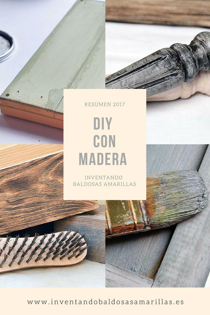 Resumen proyectos handemade 2017 DIY con madera